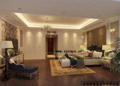 深圳效果图设计现代卧室装修图片