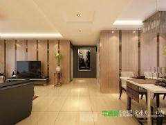 东方龙城三室两厅141平简欧风格装修效果图欧式过道装修图片
