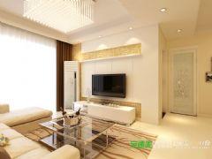 伟星平湖秋月两室两厅89平简约风格装修效果图现代简约客厅装修图片