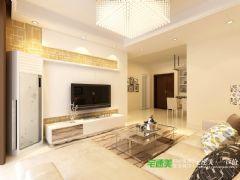 伟星平湖秋月两室两厅89平简约风格装修效果图现代简约风格小户型