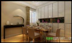 柏庄香府三室两厅140平现代风格现代餐厅装修图片