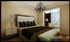 柏庄香府三室两厅140平现代风格现代卧室装修图片