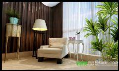 柏庄香府三室两厅140平现代风格现代客厅装修图片