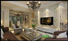左岸生活三室两厅135平欧式风格欧式客厅装修图片