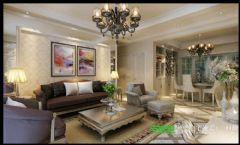 左岸生活三室两厅135平欧式风格欧式风格三居室