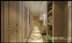 左岸生活三室两厅135平欧式风格欧式过道装修图片
