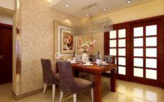 淮南云景豪庭装修设计,小巧玲珑中式简约家中式餐厅装修图片