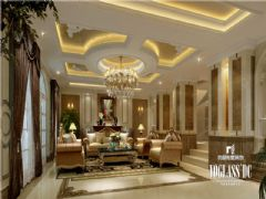 别墅装修大溪谷胡军美式风格案例推荐美式客厅装修图片