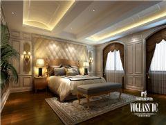 别墅装修大溪谷胡军美式风格案例推荐美式卧室装修图片