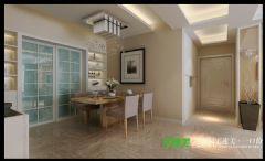 荷塘月色三室两厅115平现代风格装修效果图现代餐厅装修图片