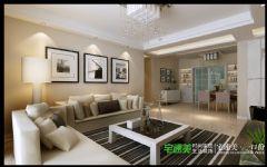 荷塘月色三室两厅115平现代风格装修效果图现代客厅装修图片
