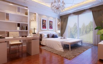 300平别墅现代风格案例欣赏现代卧室装修图片