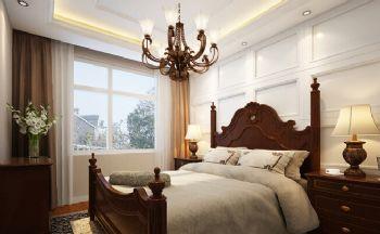 125平三居简欧风格案例简约卧室装修图片