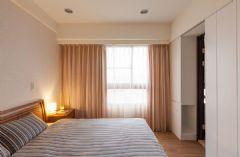 【龙发装饰】银湖翡翠简约风格案例简约卧室装修图片