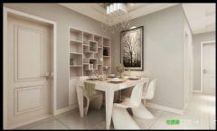 简约风格两室两厅伟星臻园87平效果图简约餐厅装修图片