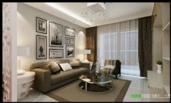 简约风格两室两厅伟星臻园87平效果图简约客厅装修图片