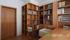 三室两厅新中式风格白金湾100平效果图中式书房装修图片