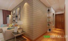 三室两厅新中式风格白金湾100平效果图中式过道装修图片
