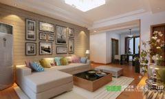 三室两厅新中式风格白金湾100平效果图中式客厅装修图片