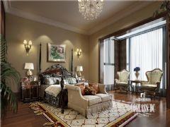 东骏湖景湾美式风格案例美式卧室装修图片