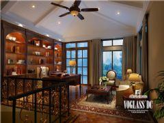东骏湖景湾美式风格案例美式书房装修图片