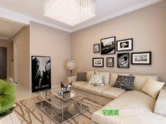 龙凤佳苑两室两厅85平现代风格装修效果图现代客厅装修图片