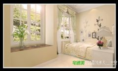 东方龙城104平三室两厅欧式风格装修效果图欧式卧室装修图片