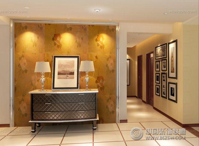 走廊背景墻溫馨設計-過道裝修效果圖-八六(中國)裝飾
