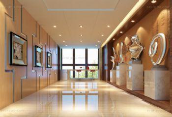 走廊背景墙温馨设计现代过道装修图片