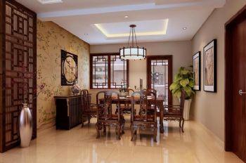 180平三居中式风格中式餐厅装修图片