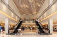 城市综合体效果图丨闪耀设计市场的一组城市综合体效果图商场装修图片