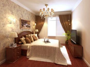 139平三居简欧风格欧式风格卧室装修图片