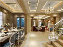 复地御香山法式风格案例欣赏美式餐厅装修图片