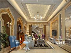 复地御香山法式风格案例欣赏美式客厅装修图片