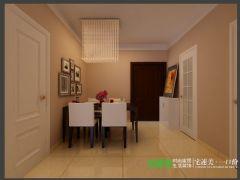 信德半岛三室两厅93平现代风格装修效果图现代餐厅装修图片