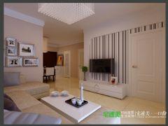 信德半岛三室两厅93平现代风格装修效果图现代风格小户型