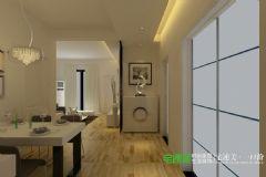 柏庄观邸三室一厅90平现代风格装修效果图现代客厅装修图片