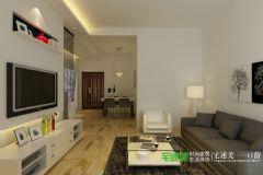 柏庄观邸三室一厅90平现代风格装修效果图现代风格小户型
