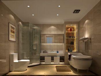 160平三居现代风案例现代卫生间装修图片
