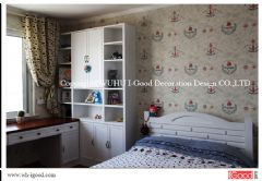 芜湖清水竹秀清苑复式装修实景美式卧室装修图片