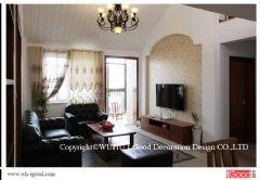 芜湖清水竹秀清苑复式装修实景美式客厅装修图片