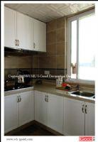 芜湖清水竹秀清苑复式装修实景美式厨房装修图片
