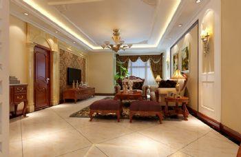 140平三居现代风装修案例现代客厅装修图片