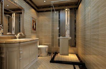 140平三居现代风装修案例现代卫生间装修图片