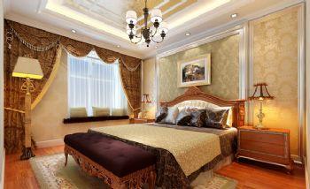 140平三居现代风装修案例现代卧室装修图片