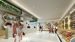 城市综合体效果图展示设计的层次与对称之美商场装修图片
