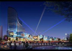 城市综合体效果图展示设计的层次与对称之美
