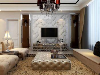 120平二居现代风现代客厅装修图片