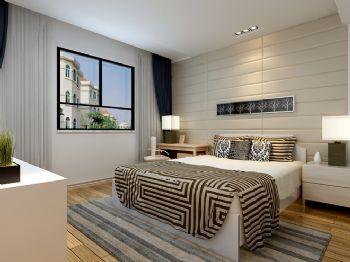 120平三居简欧风现代卧室装修图片