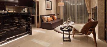 170平三居现代风格案例欣赏现代客厅装修图片